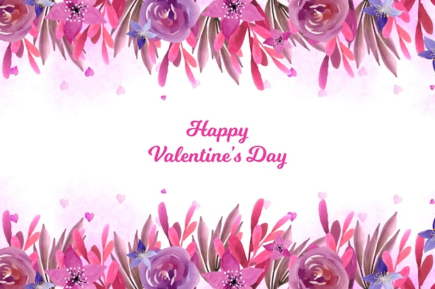 Valentine's day background with flowers