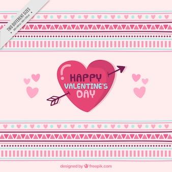 幾何学的な形でバレンタインデーの背景