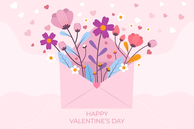Valentine's day background with greeting