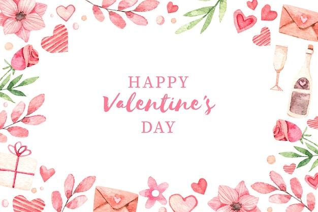 Valentine's day background with greeting Premium Vector