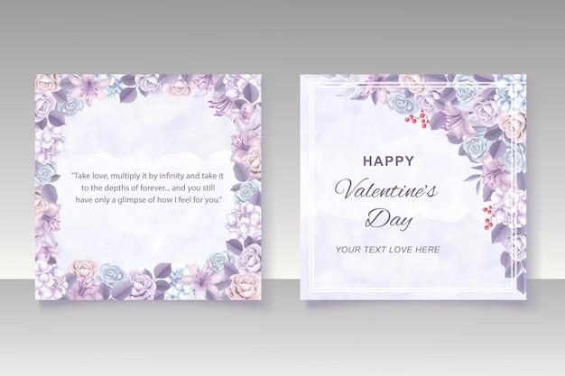 Handrawn와 발렌타인 배경