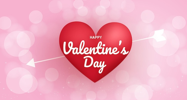 Valentine's day background with hearts on pink