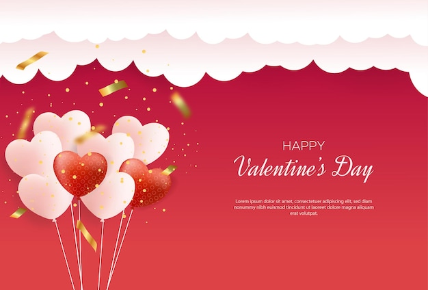 Valentine's day background with love balloons