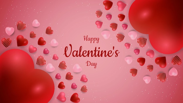 愛の形が浮かぶバレンタインデーの背景