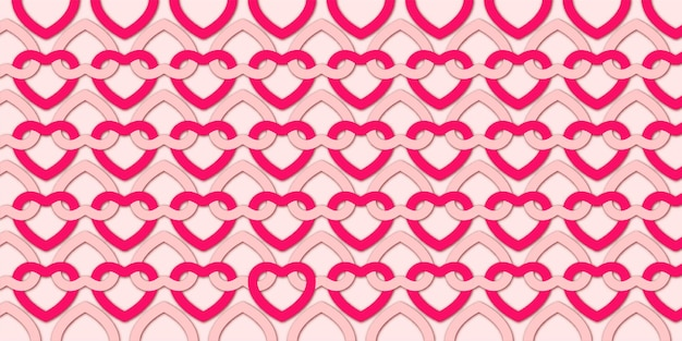 Valentine's day background with lovely hearts pattern