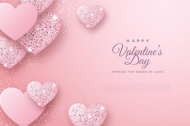 День святого валентина фон с роскошным блеском любви.