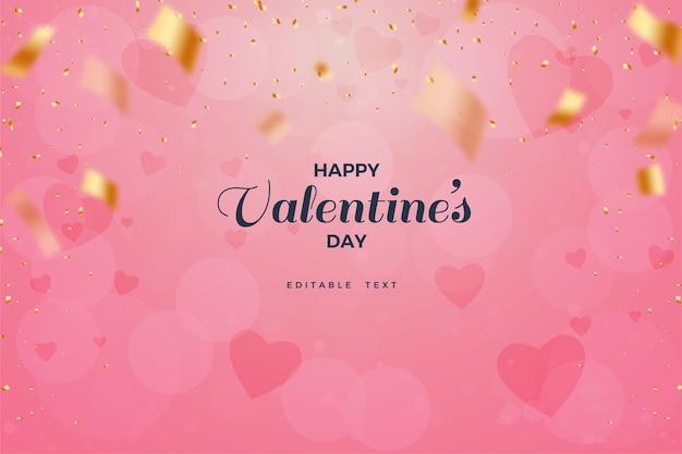 Valentine's day background with pink love blurring background.