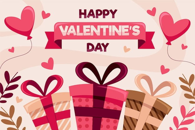Valentine's day background with presents