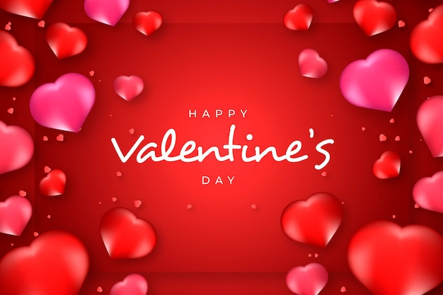 Valentine's day background with realistic elements