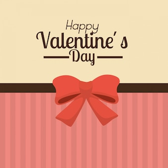 Valentine's day background with red bow
