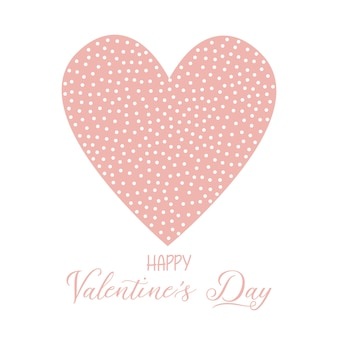 Valentine's Day background with spotted heart