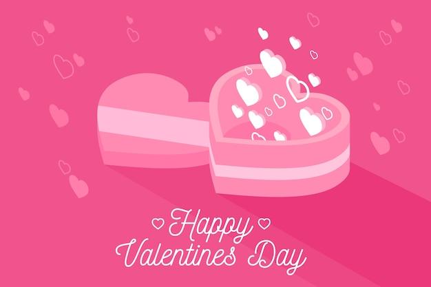 お菓子とバレンタインデーの背景