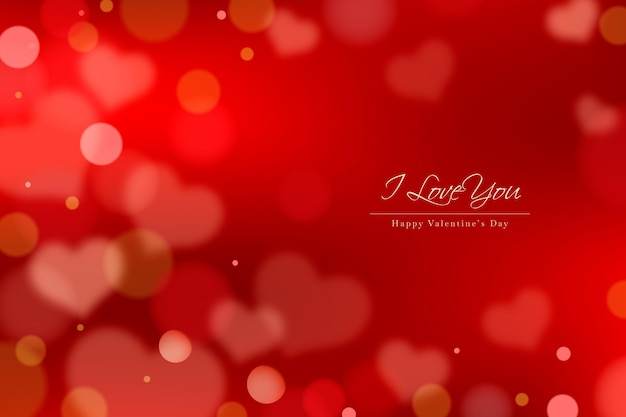 Valentine's day background with unfocused elements