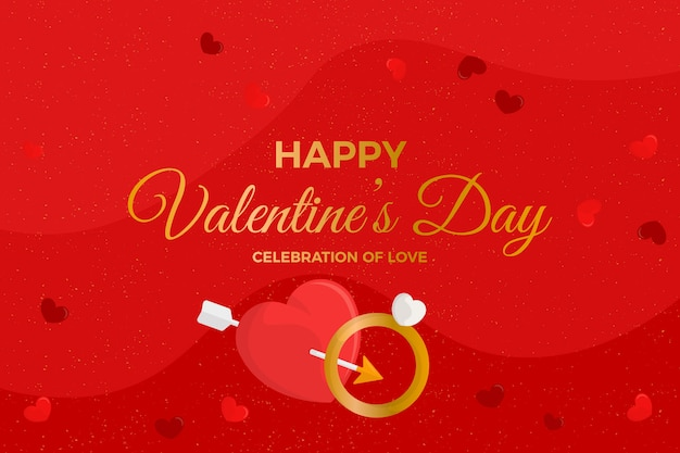 Valentine's day background with wedding ring