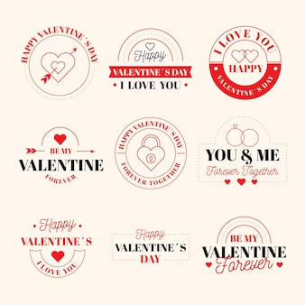 Valentine's day badge collection