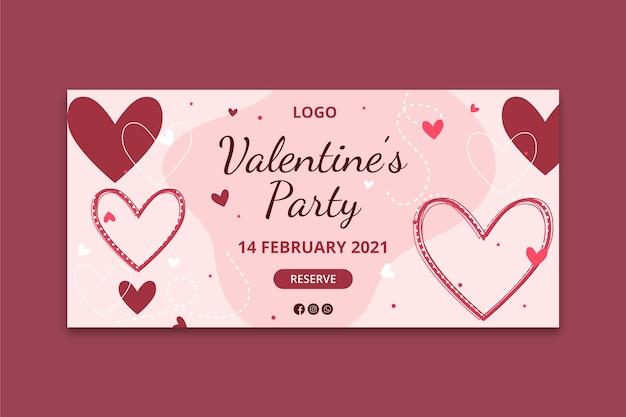 Valentine's day banner concept