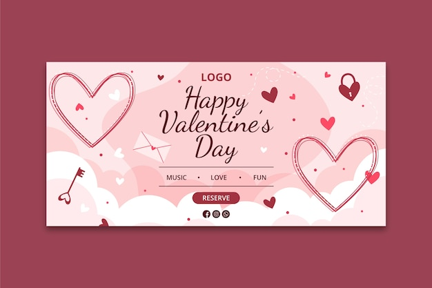 발렌타인 배너 개념
