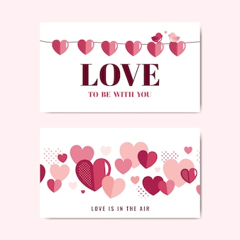 Valentine's day banner decoration vector