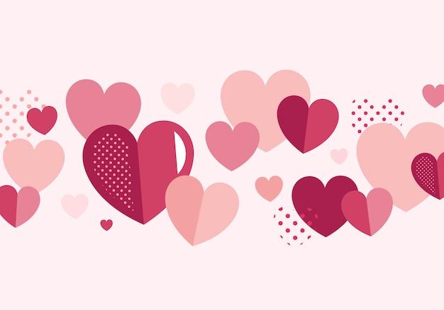 バレンタインデーのバナーデコレーションベクトル
