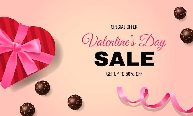 Valentine's day banner promo design for website
