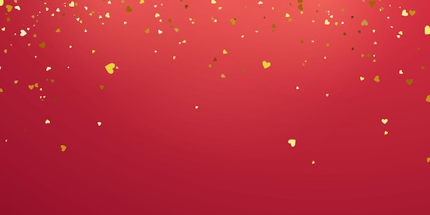 День святого валентина, шаблон баннера. конфетти сердце золотые ленты.