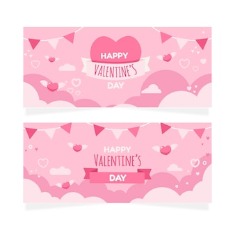 Valentine's day banners collection