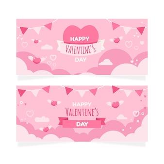 Collezione di banner di san valentino