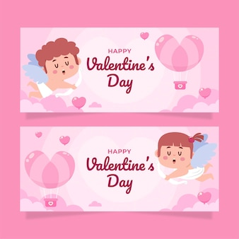 Valentine's day banners pack