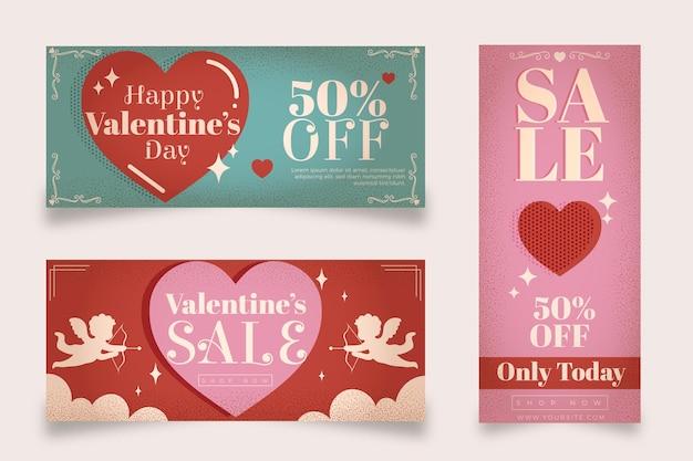 Pacchetto di banner di san valentino