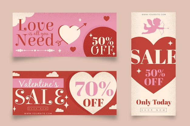 Selezione di banner di san valentino