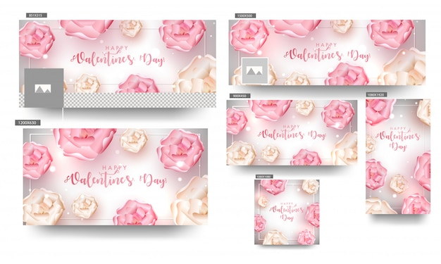 Valentine's day banners.