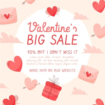 Valentine's day big sale hand drawn
