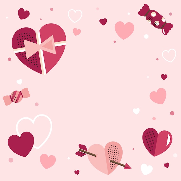 Valentine's day blank background vector