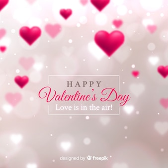 Valentine's day blurred hearts background