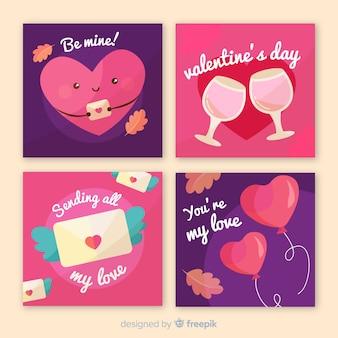 Valentine's day card collecion