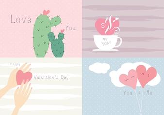 Valentine's day card design love concept