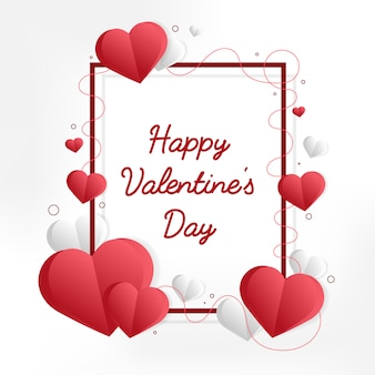 День Святого Валентина иллюстрация карты