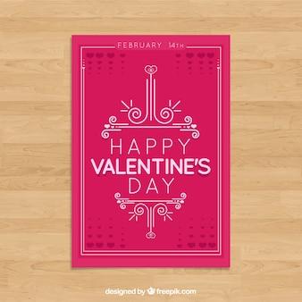 Шаблон дневной карточки Valentine's
