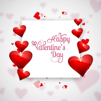 Valentine's day card with hearts background