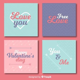 Valentine's day cards set