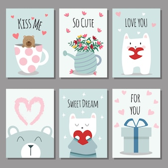 Valentine's day cards.vector illustration.