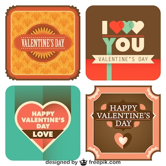 Valentine's Day Collection of Retro Style Cards