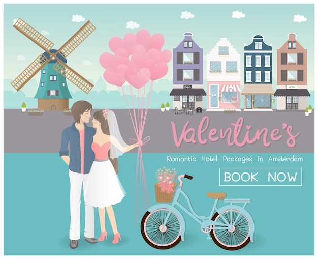 Valentine's day concept for travel