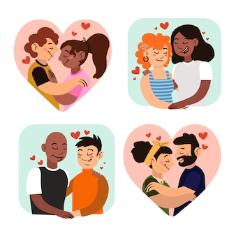 Valentine's day couple collection