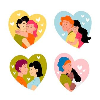 Insieme delle coppie di san valentino