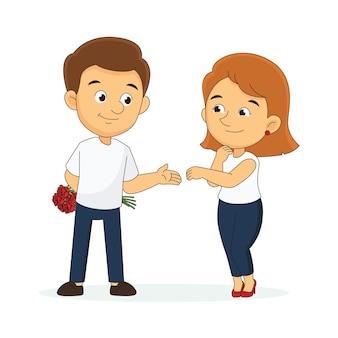 Пара в день святого валентина, проводящая время вместе