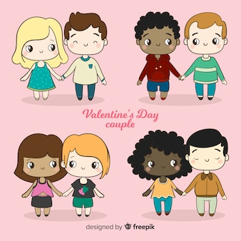 Valentine's day couples holding hands collection
