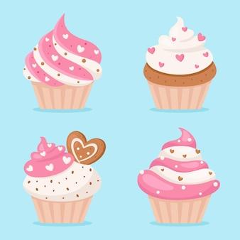 발렌타인 데이 컵 케이크