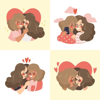 Valentine's day cute couple collection