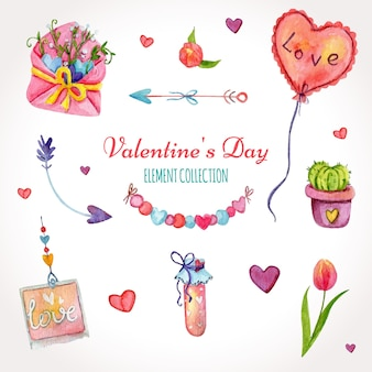 Valentine's day element collection
